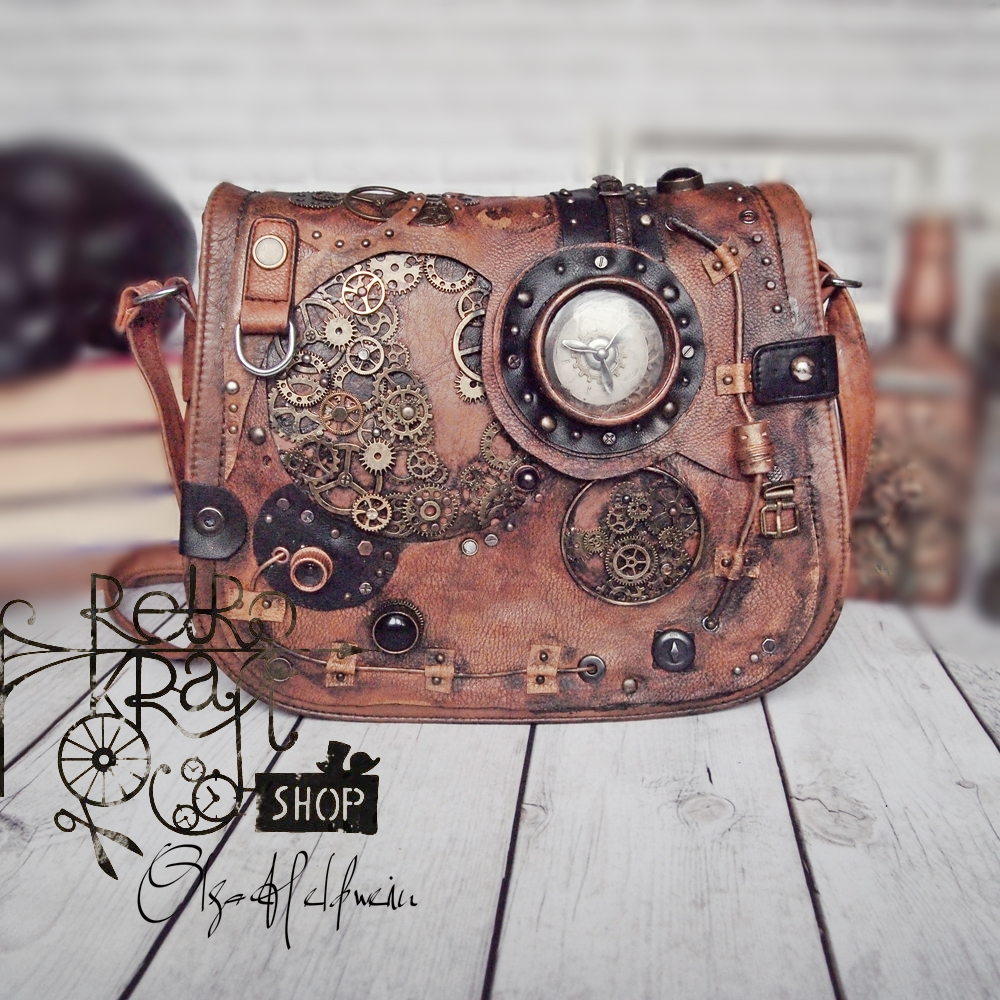 Steampunk bag arts crafts keep me sane for Steampunk arts and crafts