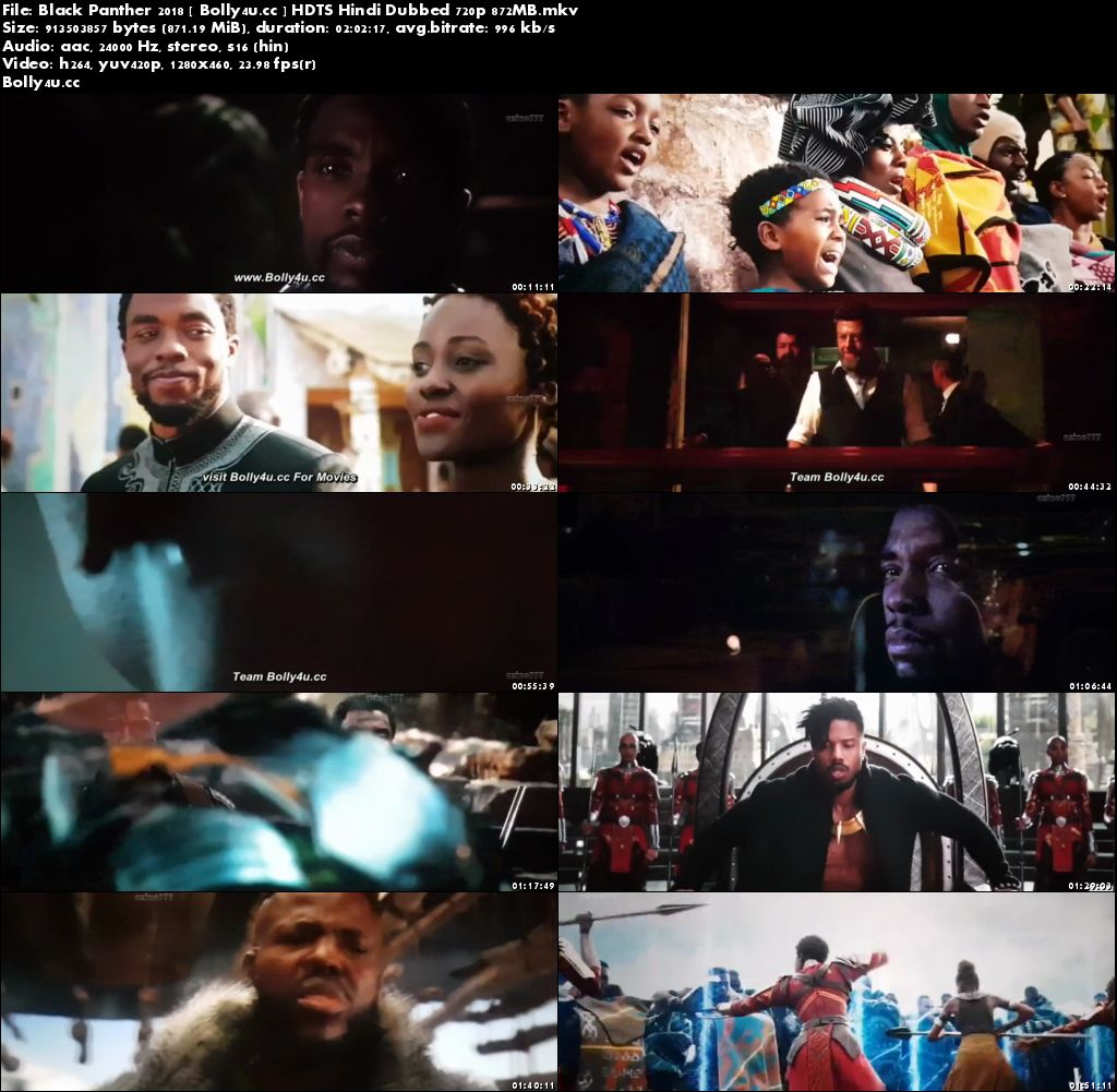 Black Panther 2018 HDTS 350MB Hindi Dubbed 480p Download