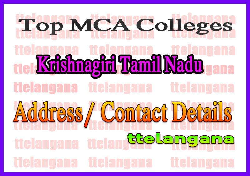 Top MCA Colleges in Krishnagiri Tamil Nadu