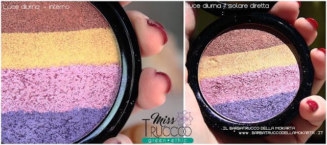 miss trucco eyeshadow palette ombretti terra e acqua mix perfetto viola bronzo  pareri