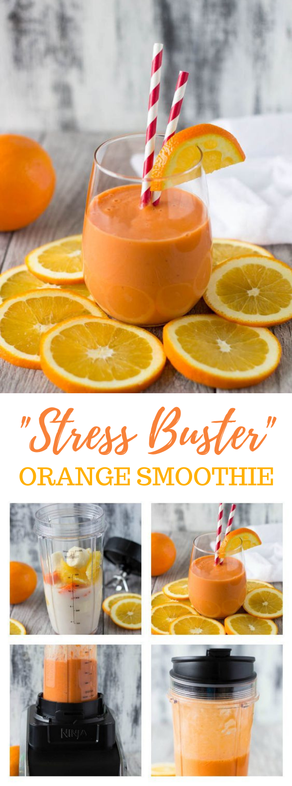 """STRESS BUSTER"" ORANGE SMOOTHIE #christmasdrink #smoothies"