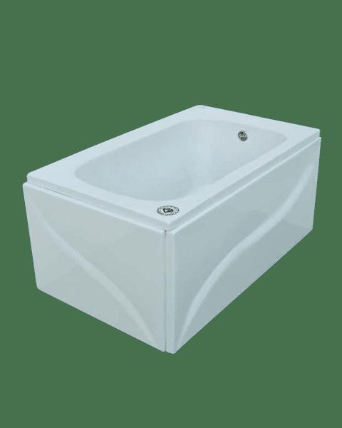 بانيو الجوهرة أكريلك 150×70سم/ لؤلؤة أبيض بدون جانب