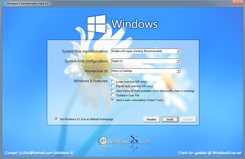 make windows xp windows 7 look like windows 10