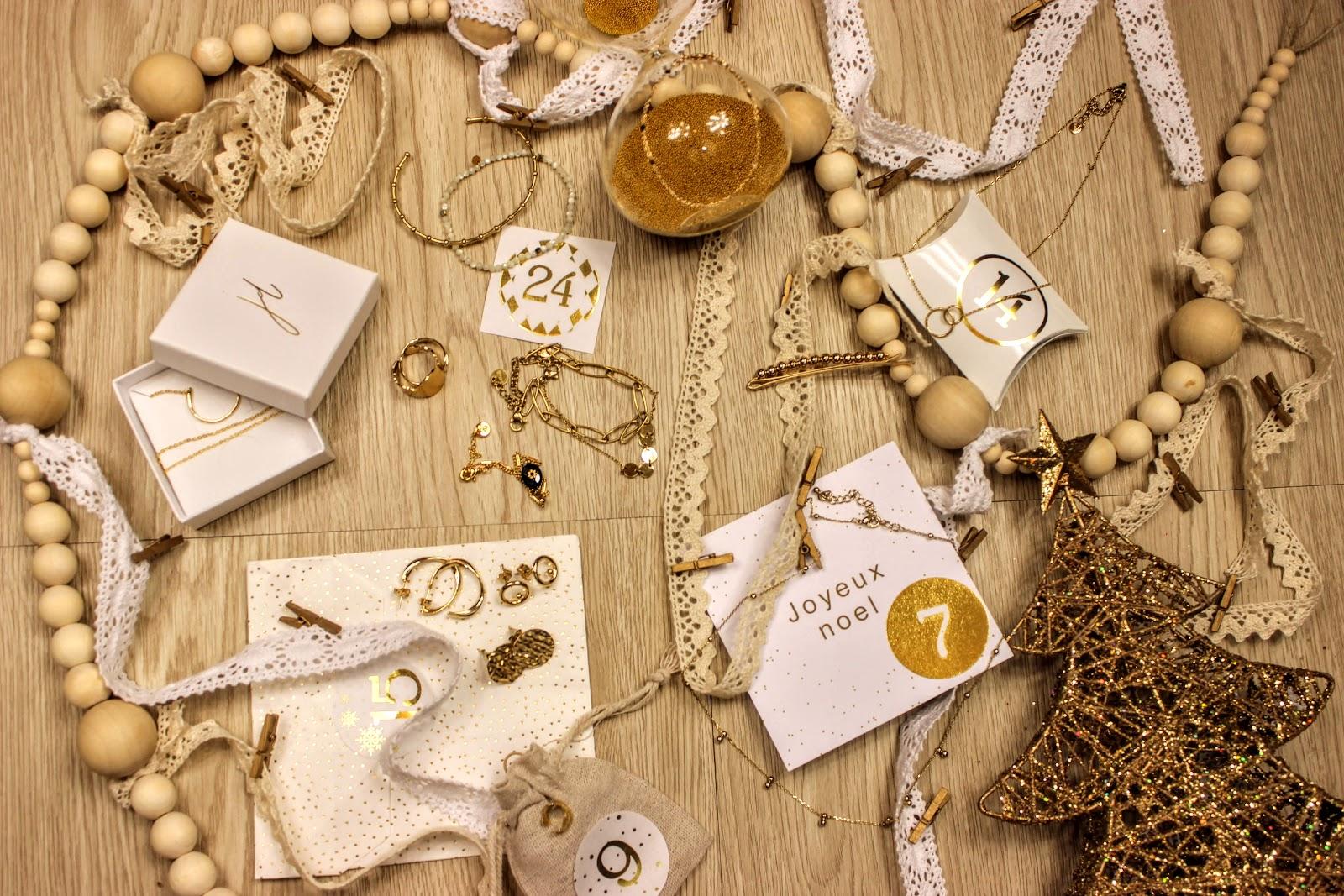 calendrier de l'avent bijoux jolie demoiselle, les petites bulles de ma vie