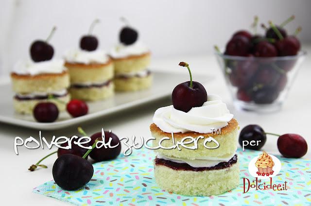 victoria sponge cake ciliegie cherry cake design polvere di zucchero
