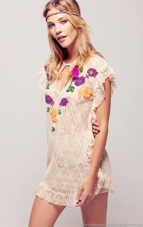 Moda verano 2015 vestidos y tunicas Silvina Ledesma.