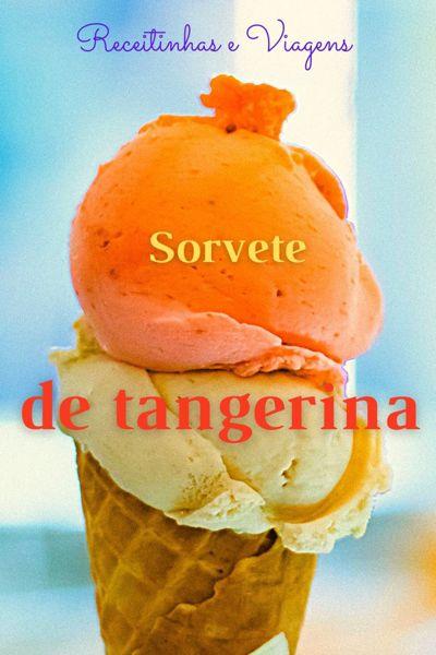 Sorvete cremoso de tangerina, refrescante e lindo