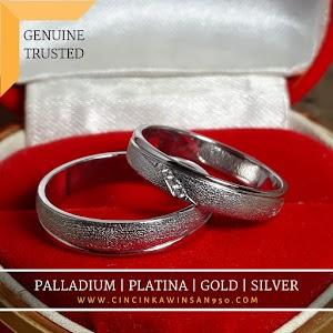 cincin kawin palladium pasangan 562