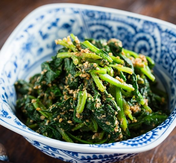 Japanese Spinach Salad with Sesame Dressing (Horenso Gomaae) ほうれん草の胡麻和え #vegetarian #healthy