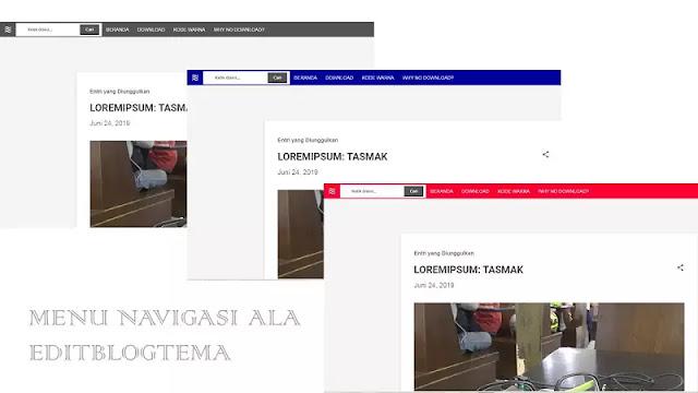 tampilan menu navigasi ala editblogtema