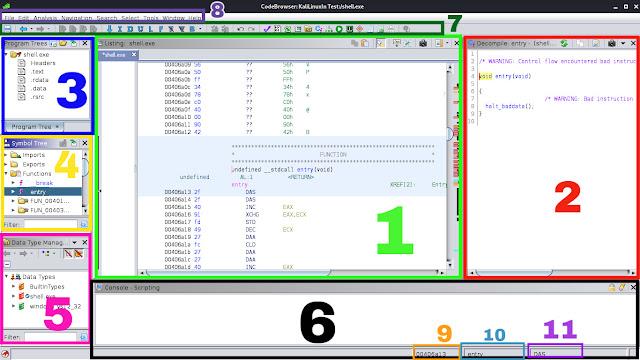 Ghidra codebrowser details