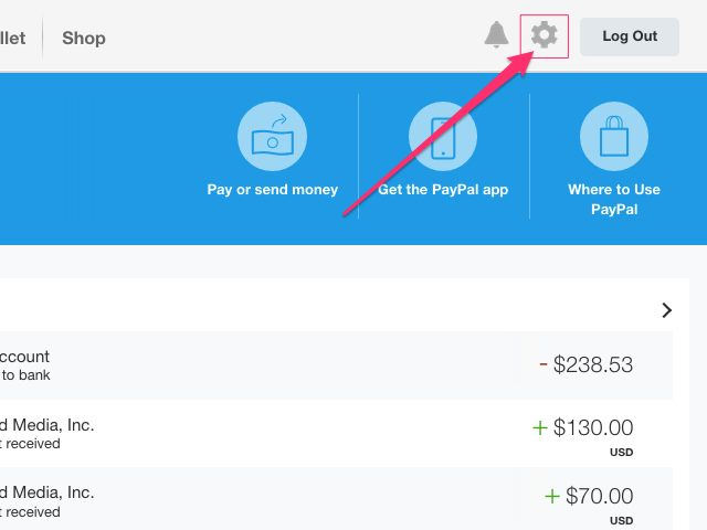 profile Paypal