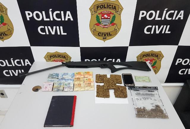 Polícia Civil prende em flagrante suspeito de tráfico de drogas em Itariri