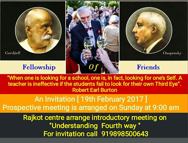 Fellowship of Friends Fourth Way School Living Presence recruiting in Rajkot India