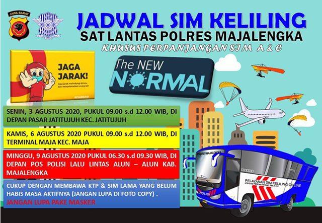 SIM Keliling Majalengka Bulan Agustus 2020-IGsatlantasmjlk