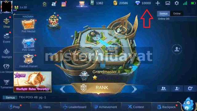 akan berbagi cara mendapatkan diamond mobile legends tanpa perlu top up alias gratis Script Diamond Mobile Legends Gratis 10.000 Patch Terbaru 2021