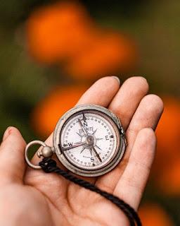 shalat, gunung, lumut, kompas, kiblat