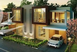 perumahan minimalis 2 lantai modern