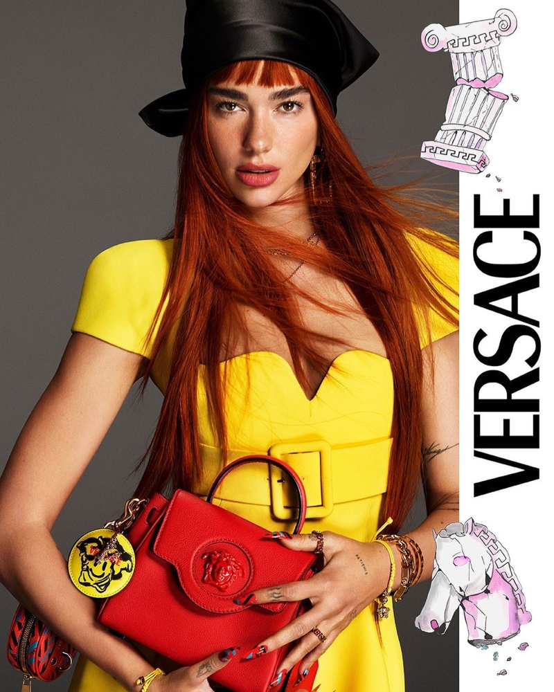 Dua Lipa stars in Versace fall-winter 2021 campaign.