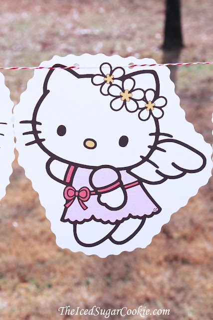 Hello Kitty Birthday Party DIY Flag Bunting Banner Garland Idea