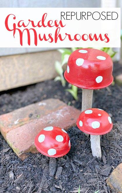 Pinterest pin for mushrooms
