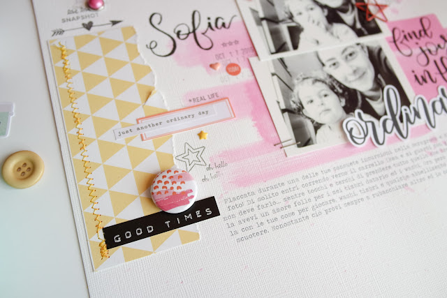 "scrapbooking layout ""ordinary"" by kushi per Storie di timbri, carte e... 