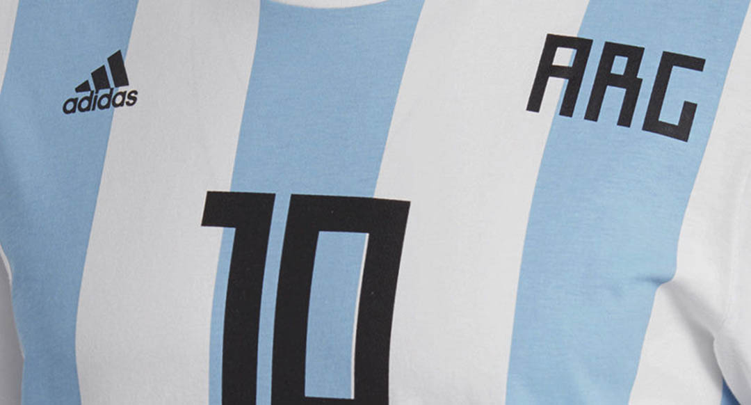 af5a4c3b ... 2018 World Cup jersey, offering fans a great lifestyle off-pitch  alternative to the soccer jersey. The new Adidas Argentina 2018 World Cup  lifestyle tee ...