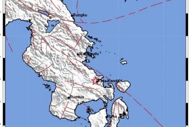 Kendari Kembali Diguncang Gempa Magnitudo 2,7 SR
