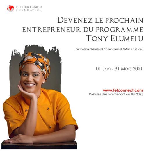 Appel à tous les Jeunes entrepreneurs Africains - Programme d'entrepreneuriat TEF 2021