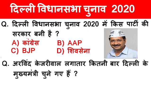 Delhi Election 2020 Quiz