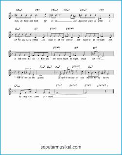 chord black coffee 2 lagu jazz standar