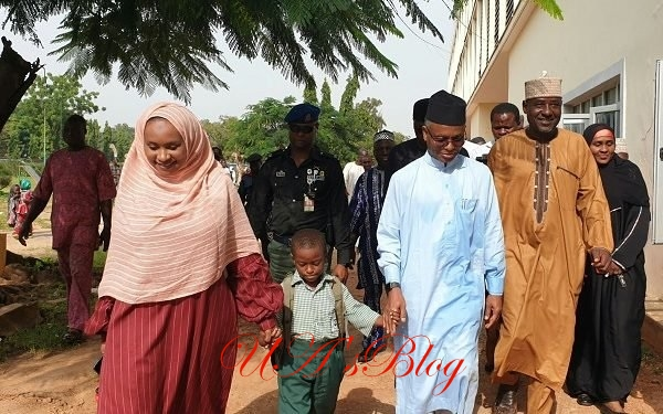 El-Rufai Enrols His Son In Public Primary School (Photo)