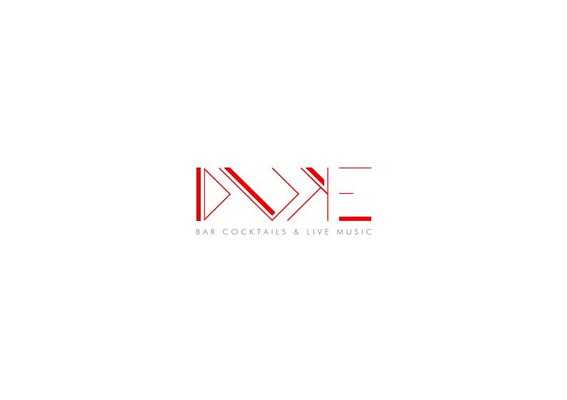 luxe logo duke rouge blanc