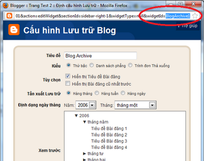 Điều chỉnh kích thước chiều rộng và chiều cao Tiện ích trong Blogspot