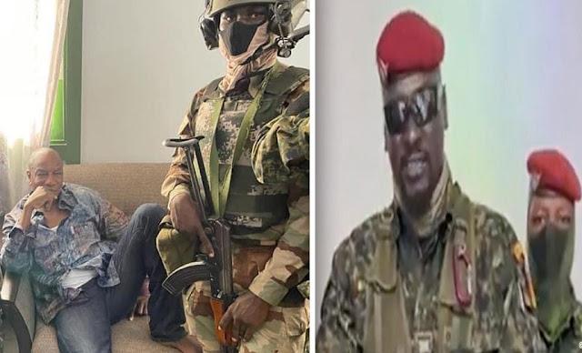 Guinea coup انقلاب الجيش الغيني علي الرئيس ألفا كوندي