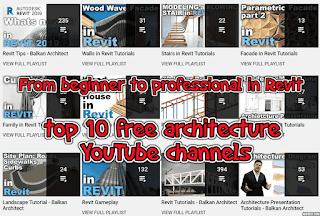 From beginner to professional in Revit, through the top 10 free architecture YouTube channels