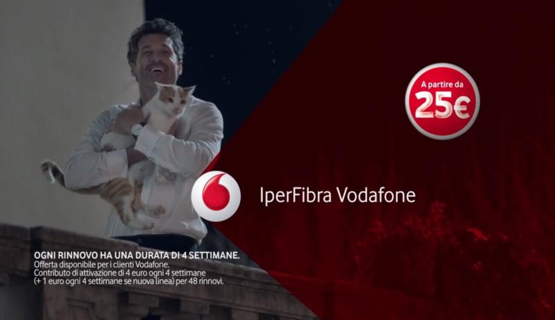 Pubblicità Vodafone Iperfibra Con Protagonista Lattore Patrick Dempsey