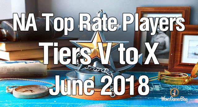 World of Warships NA - Top Rate Players Tiers 5 to 10 June 2018