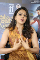 Rakul Preet Singh smiling Beautyin Brown Deep neck Sleeveless Gown at her interview 2.8.17 ~  Exclusive Celebrities Galleries 039.JPG