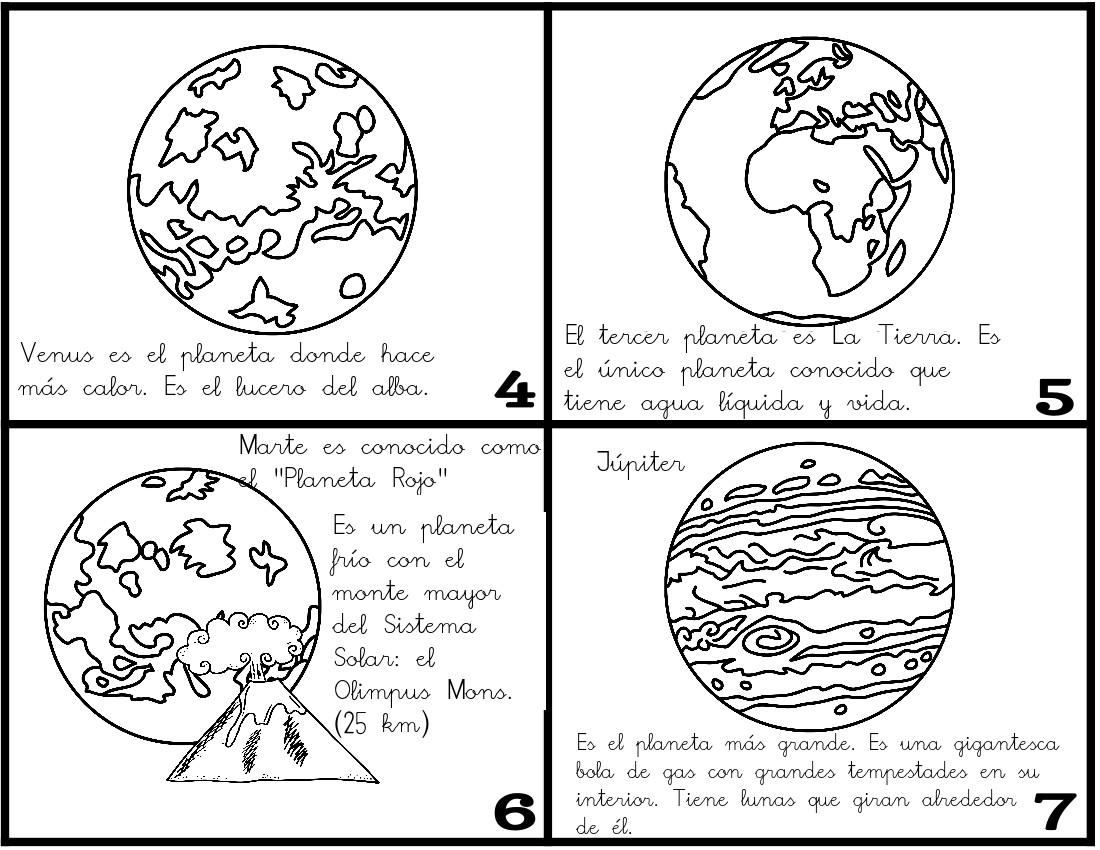 Dibujos Para Colorear Del Sistema Solar: ¿Qué Puedo Hacer Hoy?: Minilibro: Los Planetas Del Sistema