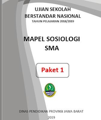 Soal USBN Sosiologi SMA Tahun 2019 dan Kunci Jawabannya (Nomor 1 s.d 20)