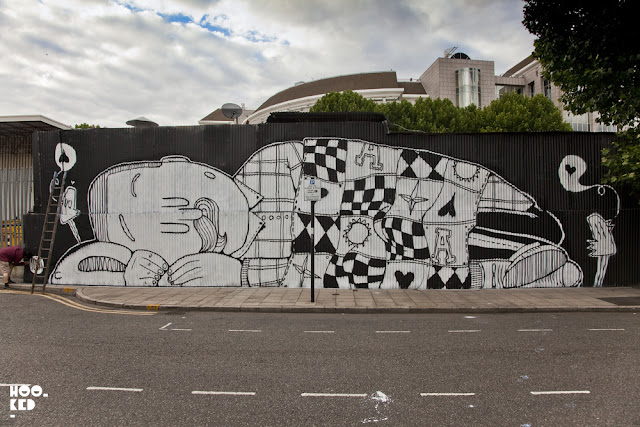 Street Artist Alex Senna's A Journey Through Dreams Mural in London