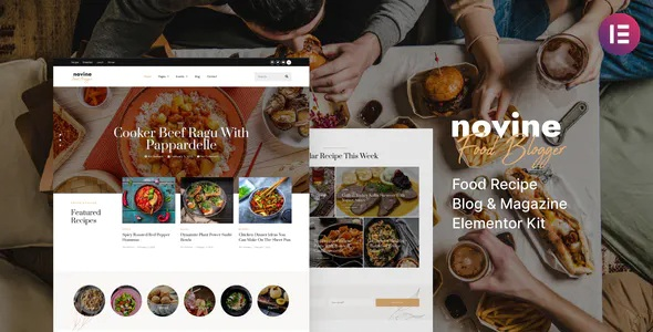 Best Food Recipe Blog and Magazine Template Kit