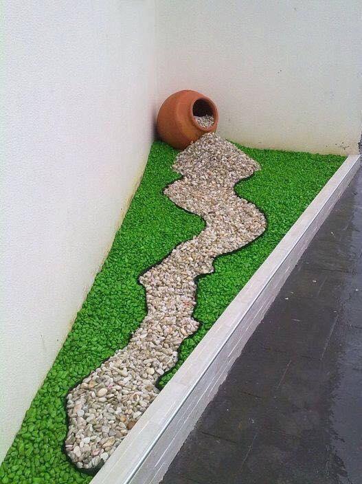 Decoraci n de jardines con piedras de colores decoraci n for Decoracion de casas con piedras