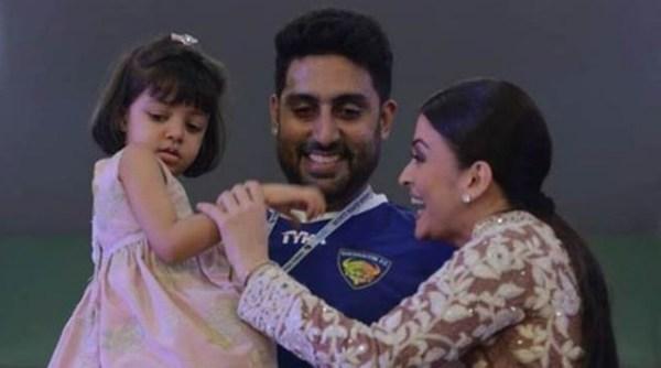 Aishwarya rai cute baby Aradhya with Abhishek