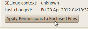 Apply permission to enclosed files