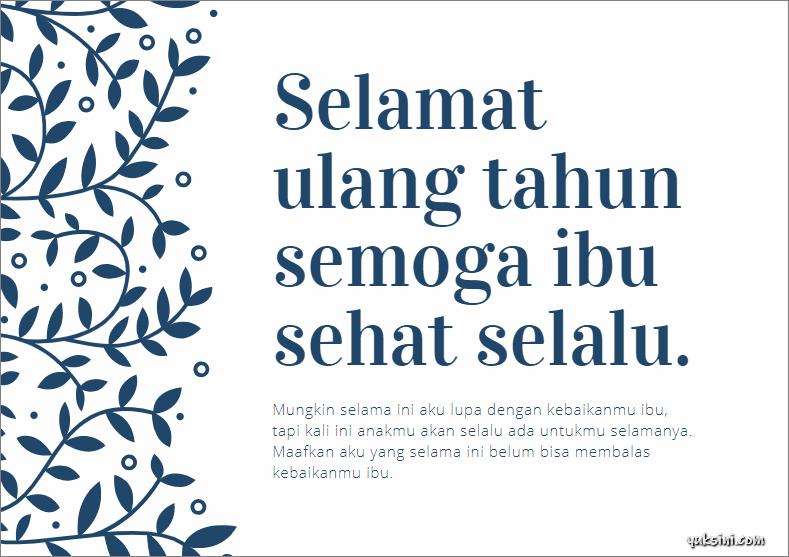 ucapan selamat ulang tahun islami untuk ibu