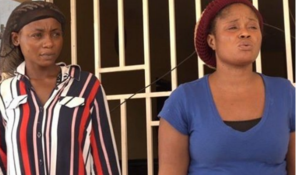 Two Nigerian Ladies Arrested For Compelling Young ladies Into Prostitution In Ghana
