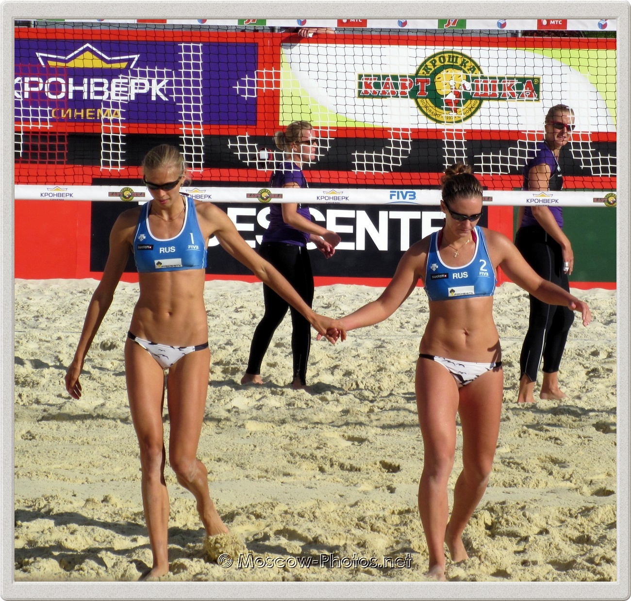 Anastasia Vasina & Anna Vozakova at FIVB Beach Volleyball Swatch World Tour