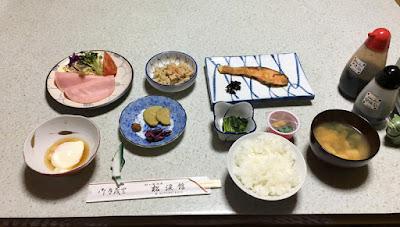 松渓館の朝食